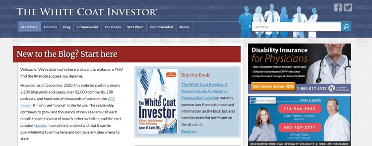 The white coat investor website