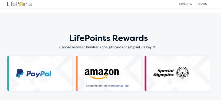 Screenshot from Life Points - online surveys for money