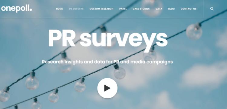 Screenshot from OnePoll - online surveys for money