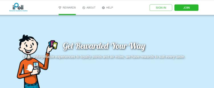 Screenshot from iPoll - online surveys for money